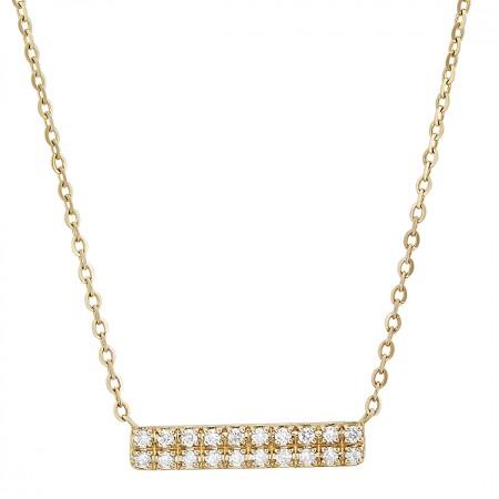Diamond Necklace in 14K 1.60 gr