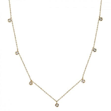 Diamond necklace in 14K 1.80 gr