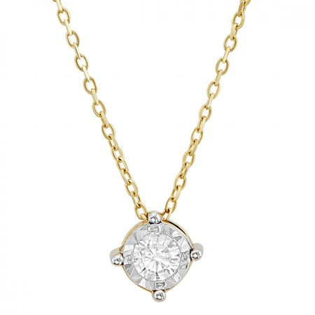 Diamond Necklace in 14K 1.00 gr