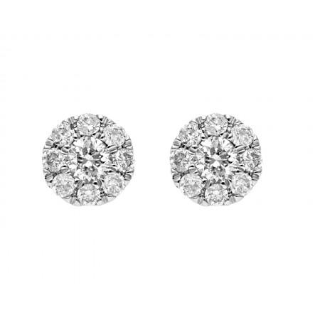 Broqueles de diamantes de 0.25 ct en 14K
