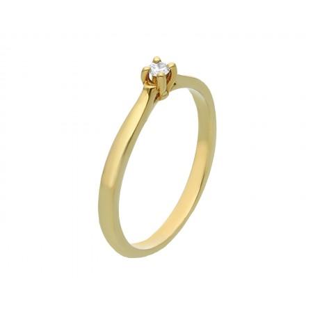 Engagement ring in 14K 1.73 gr