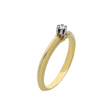 Engagement ring in 14K 2.23 gr