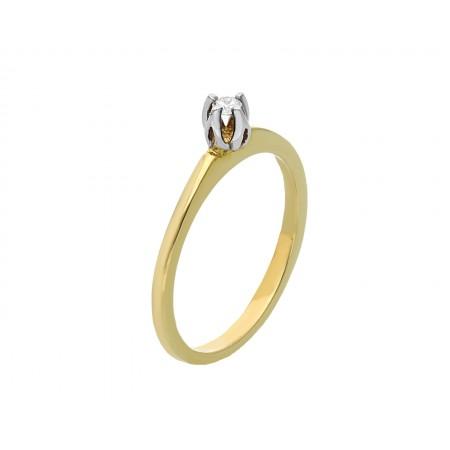 Engagement ring in 14K 1.68 gr