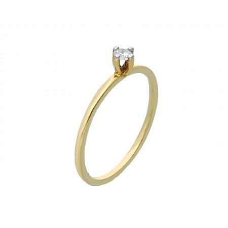 Engagement ring in 14k 1.05 gr