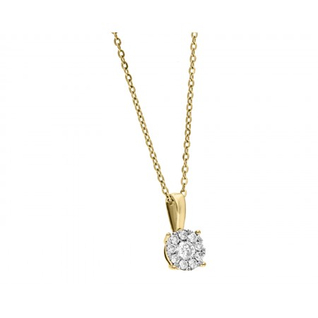 Diamond Pendant in 14K 0.50 gr