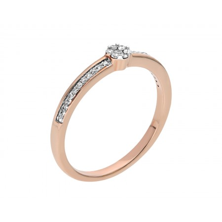 Engagement ring in 14K 0.115 ct
